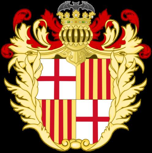 герб Барселоны примерно в 1790-1870 годах