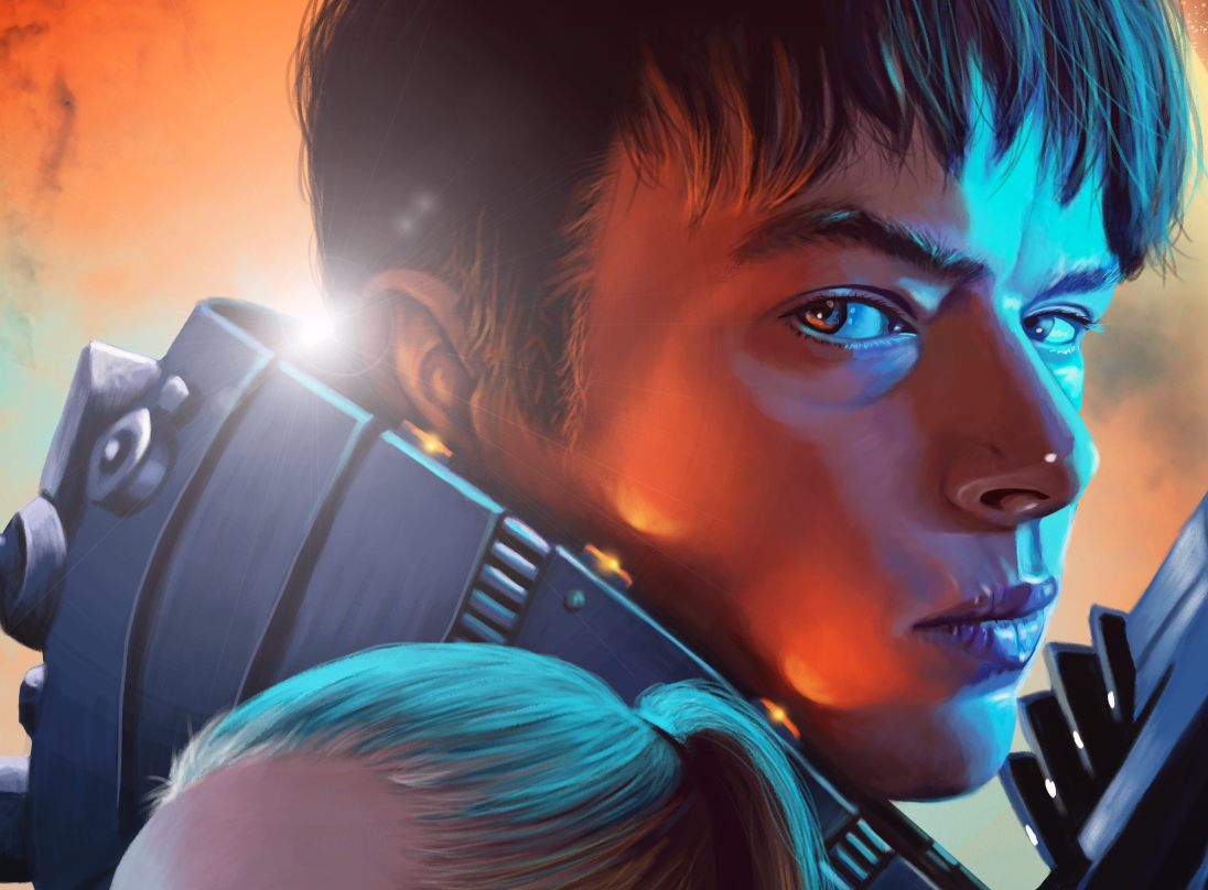 Amazing Valerian Illustration by Flore Maquin