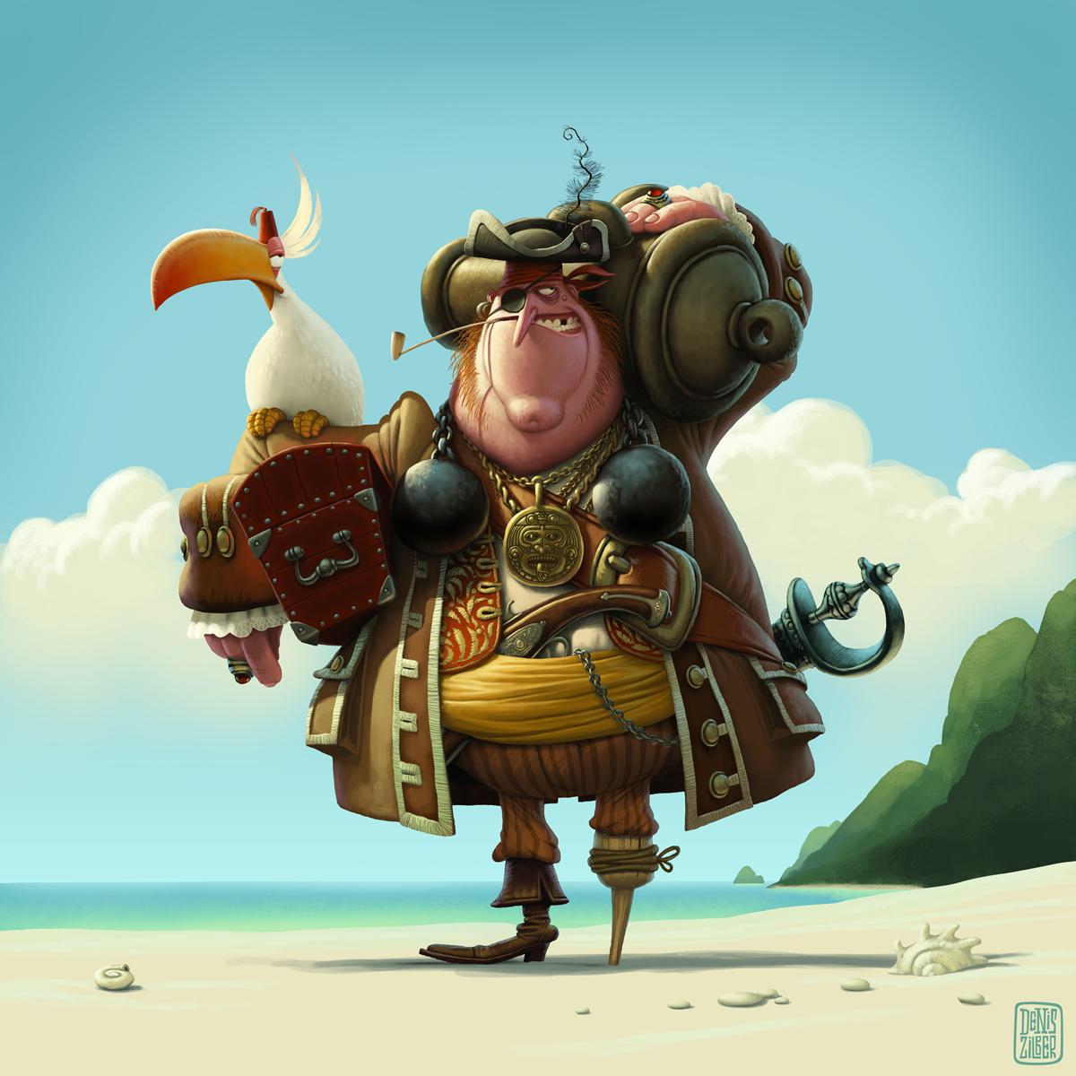 Illustrator - Character Designer - Denis Zilber