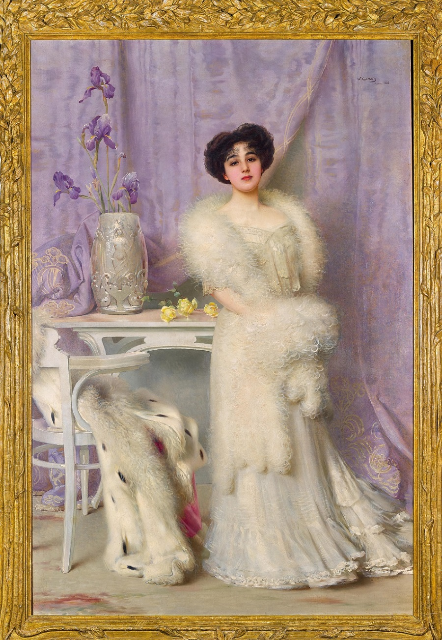 Vittorio Matteo Corcos(Livorno 1859–1933 Florence) Portrait of Diane de la Bouchère, signed, dated and inscribed V. Corcos Firenze 1903
