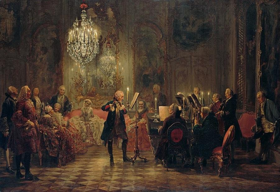 Концерт для флейты Фридриха Великого в Сан-Суси. 1852.