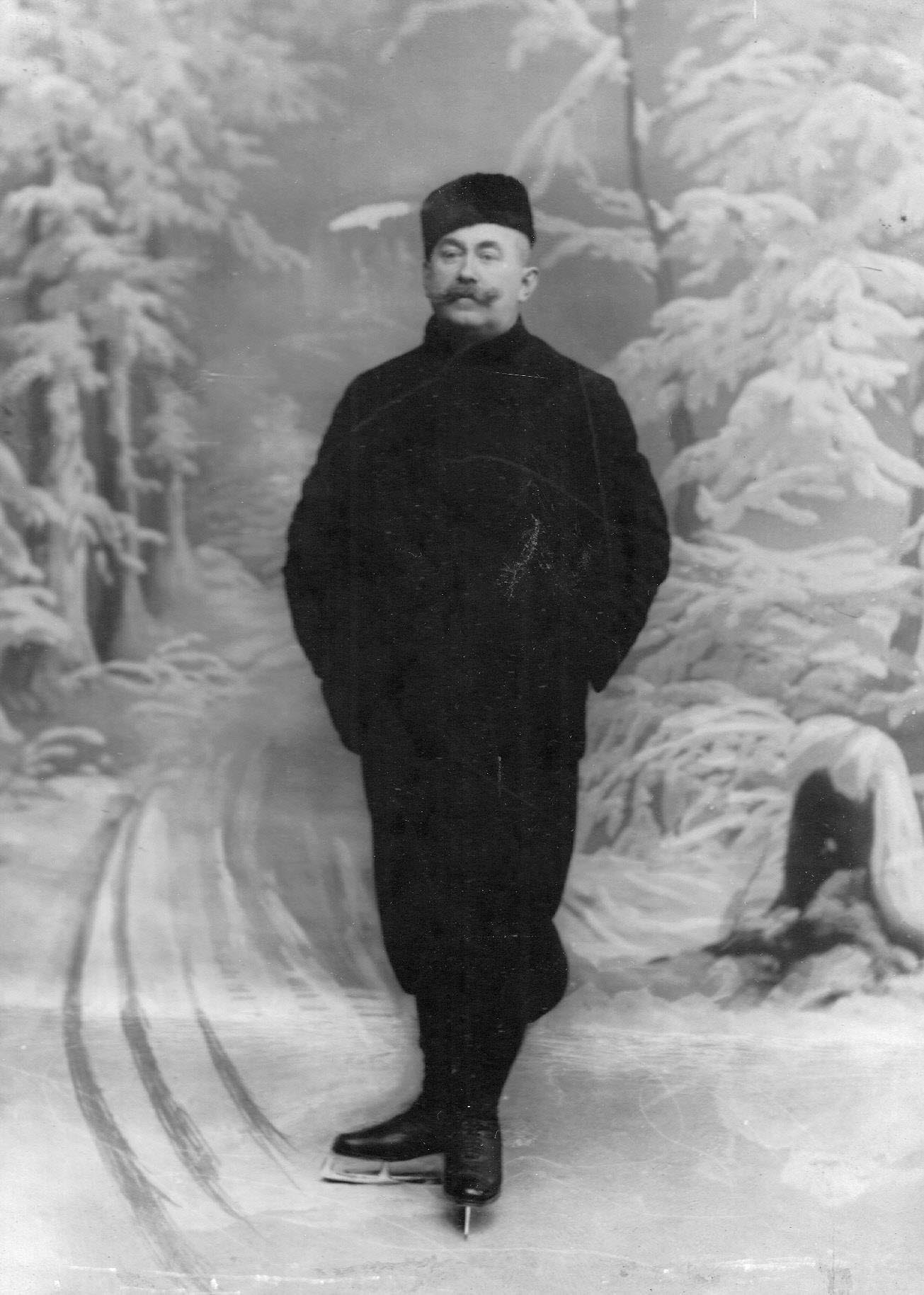 Портрет конькобежца Дица. 1911