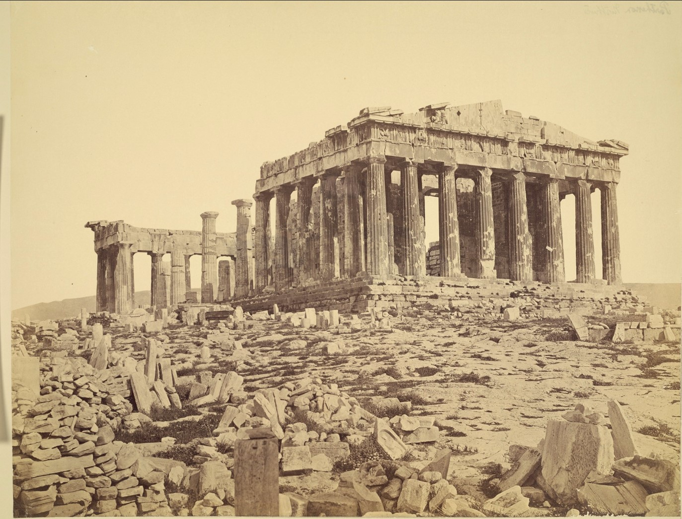 Акрополь. Парфенон с северо-запада