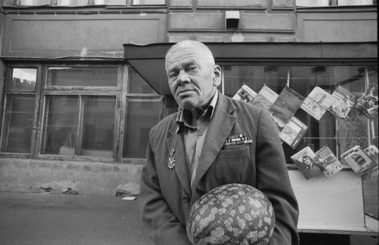 Ветеран с арбузом. 80-е