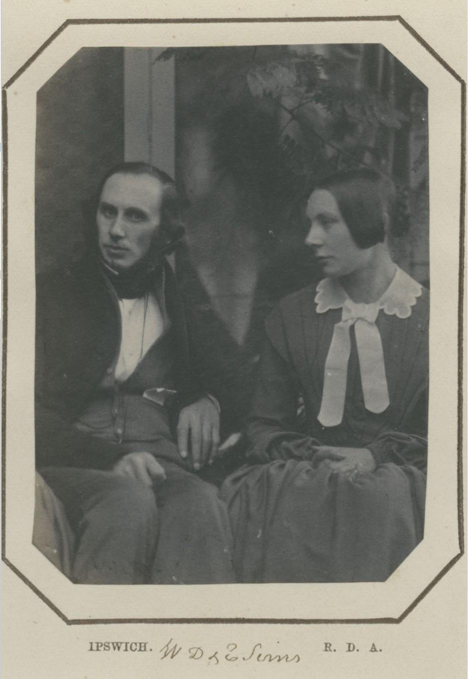 1855. Уильям Симс и его жена, Ипсвич