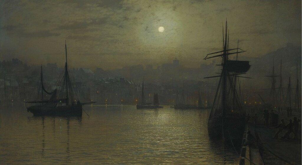 1879_Старый Скарборо. Полная луна, высокая вода.jpg