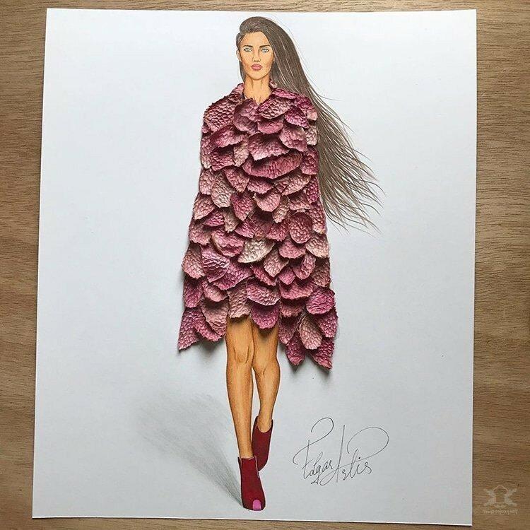 0 17e856 d4f926cb XL - Эскизы платьев в сочетании с едой и др. предметами