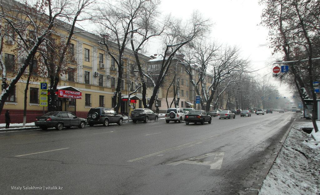 Автобусная полоса на Наурызбай батыра.