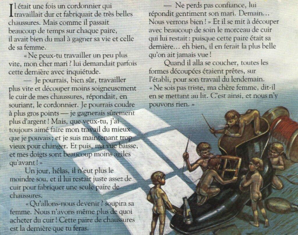 Эльфы и башмачник - Les lutins et le cordonnier. Аудиосказка на французском языке с текстом