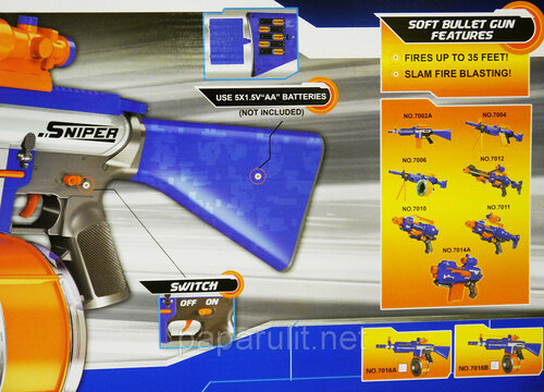 автомат Fire Storm 7016В c мягкими пулями и лазерным прицелом