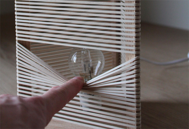 SOHKA Lamp: A Customizable Light Made from Rubber Bands