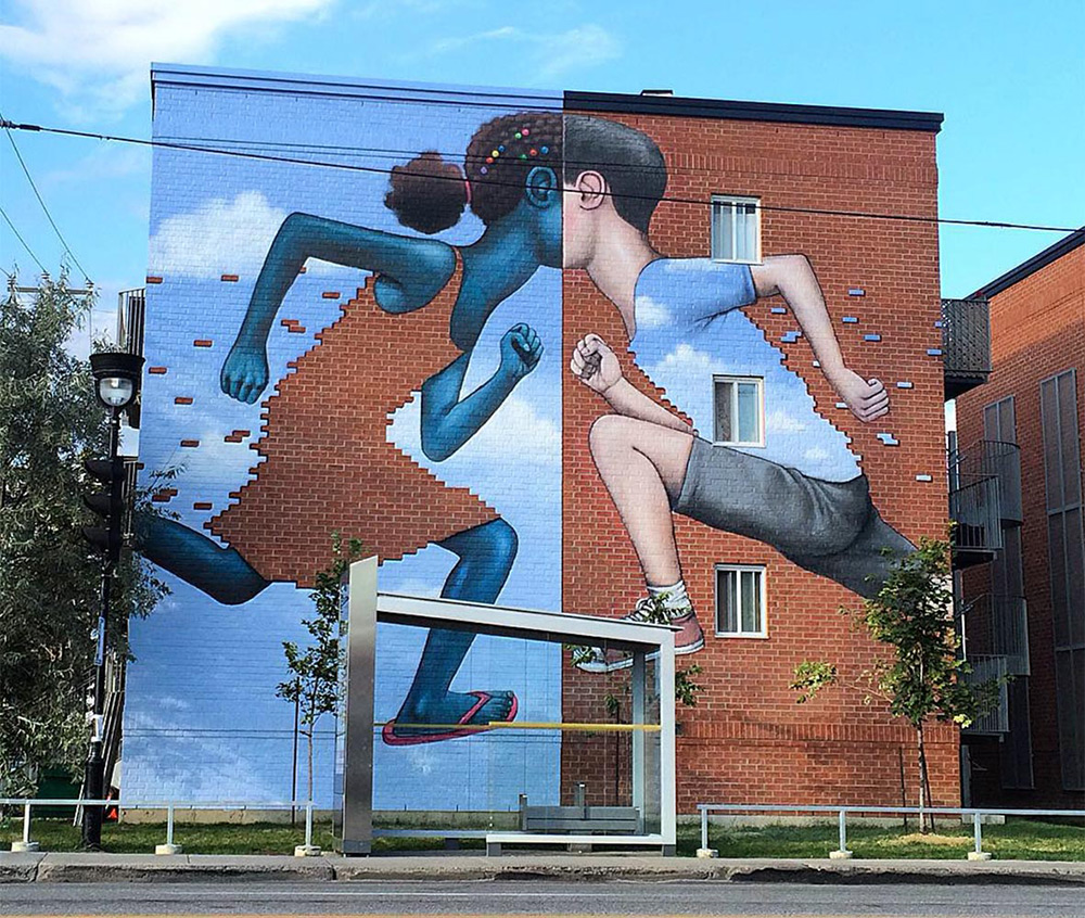 This clever new mural by Julien Malland, aka Seth Globepainter (previously here and here ) just appe