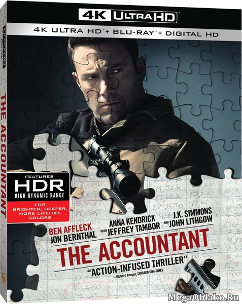 Расплата / The Accountant (2016) | UltraHD 4K 2160p