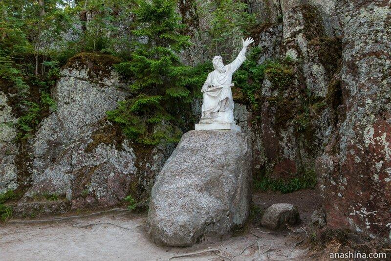 Статуя Вяйнямёйнена, Парк Монрепо, Выборг