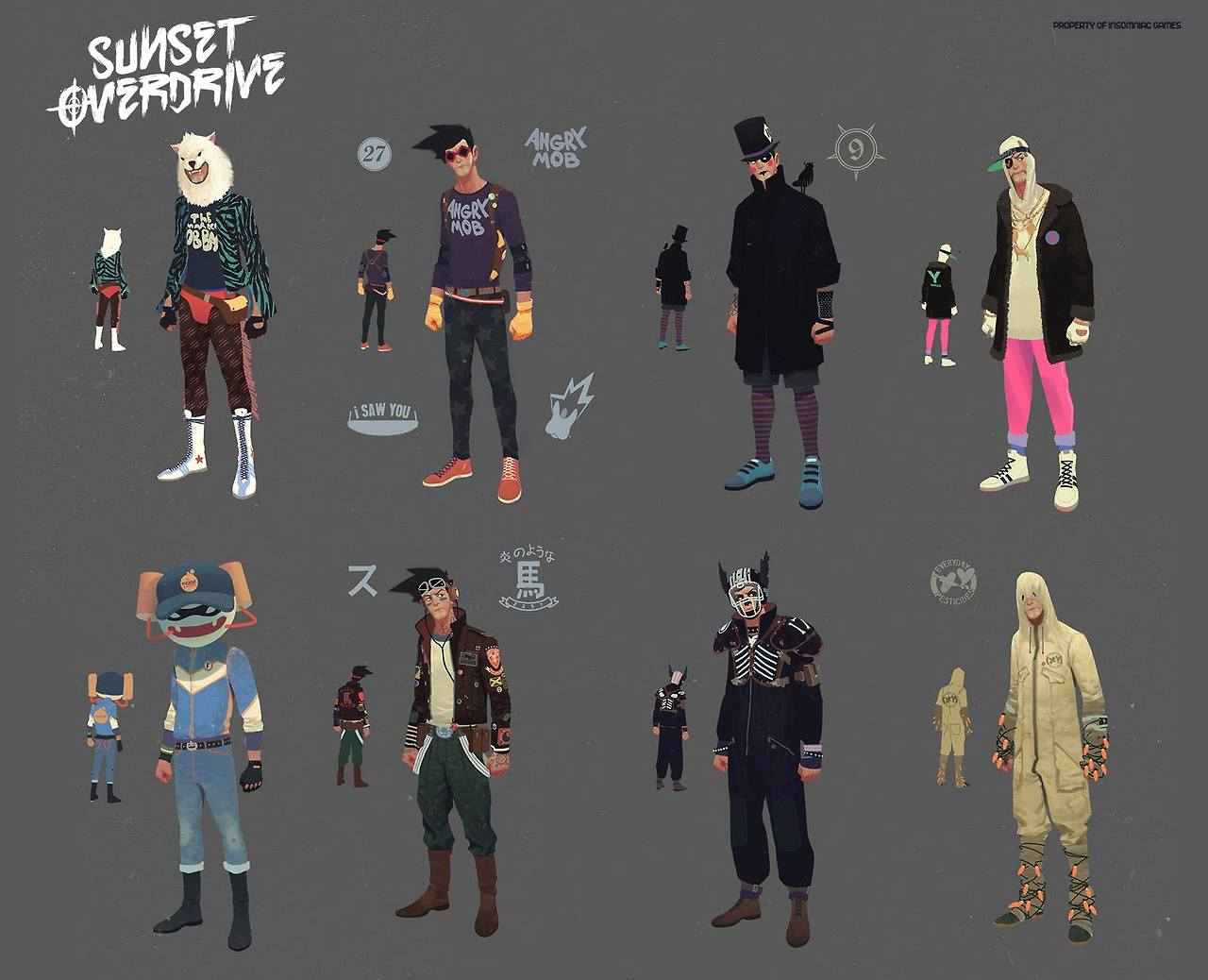 Sunset Overdrive Concept Art and Illustration by Vasili Zorin