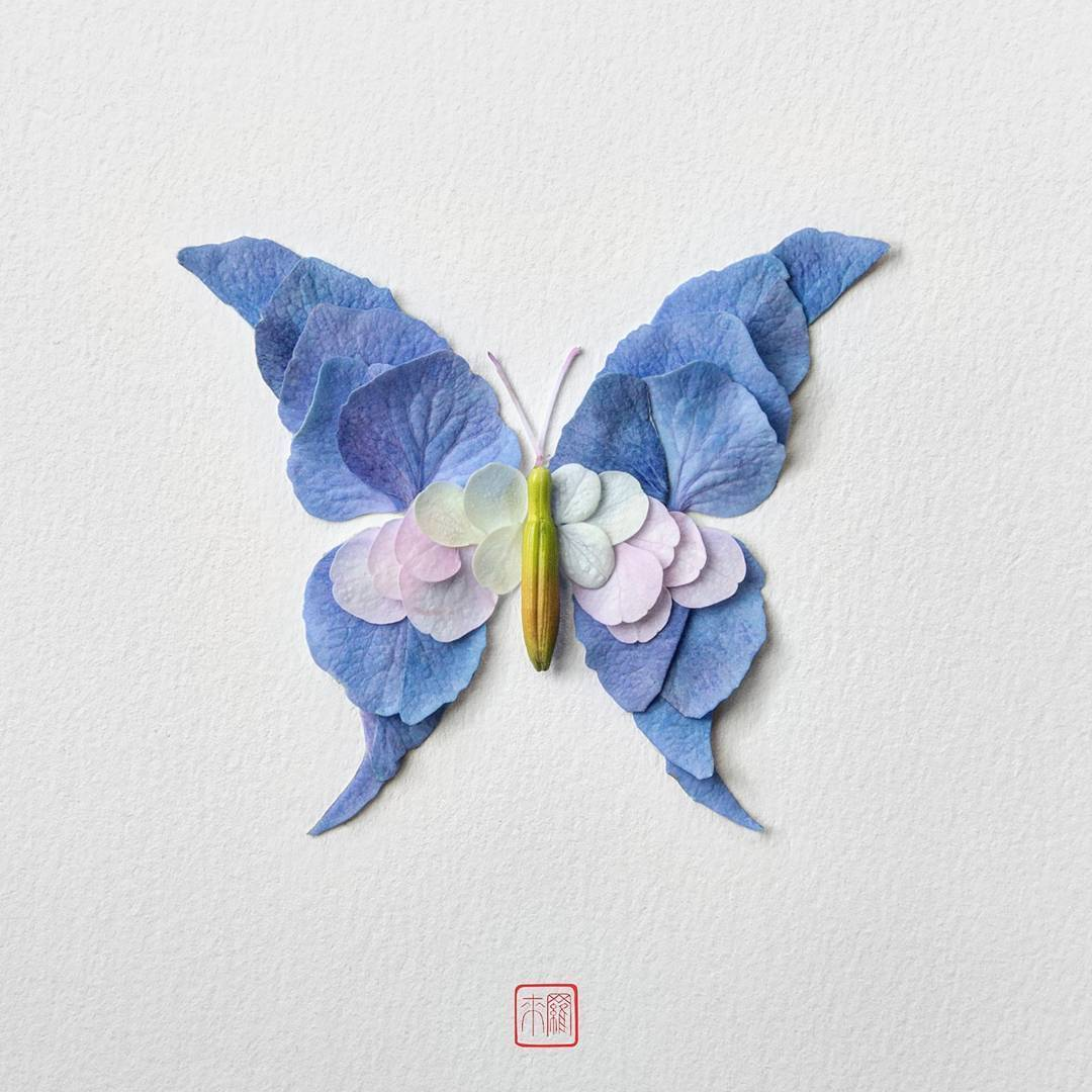 Fascinating Insects Flower Sculptures by Raku Inoue