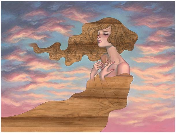 "Releases: Audrey Kawasaki – ""As I Fall"" Print (3 pics)"