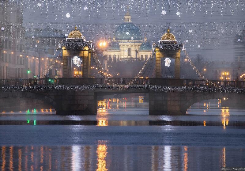 Новогодний мост Ломоносова...