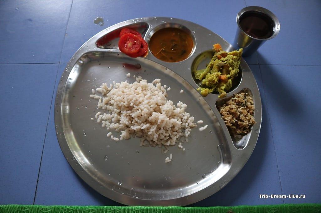 Стандартный обед в Shivananda Ashram