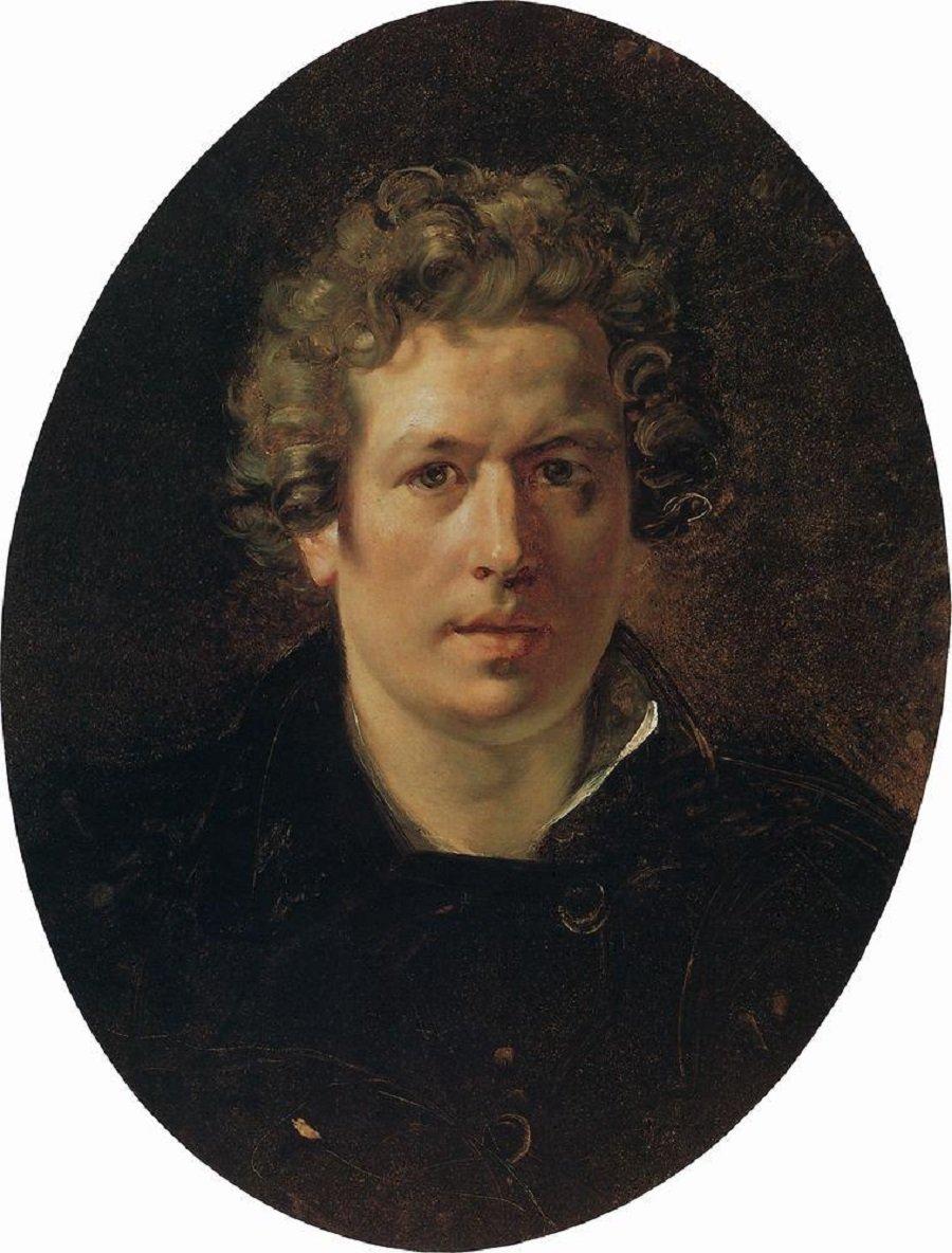 Автопортрет. Около 1833Написан для Галереи Уффици, Флоренция. (Не окончен)Государственный Русский музей, С.-Петербург