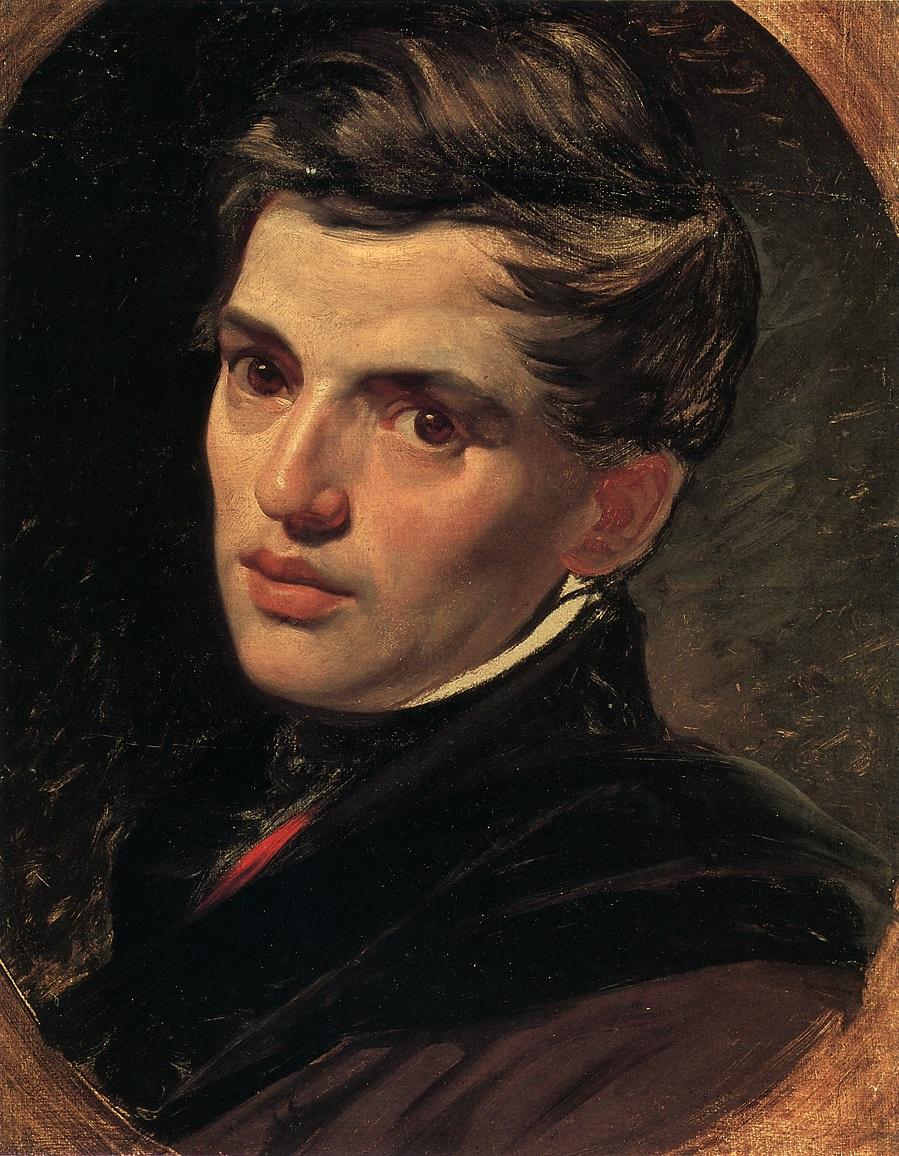 Портрет архитектора А.П.Брюллова, брата художника. 1823-1827 Государственный Русский музей, С.-Петербург.