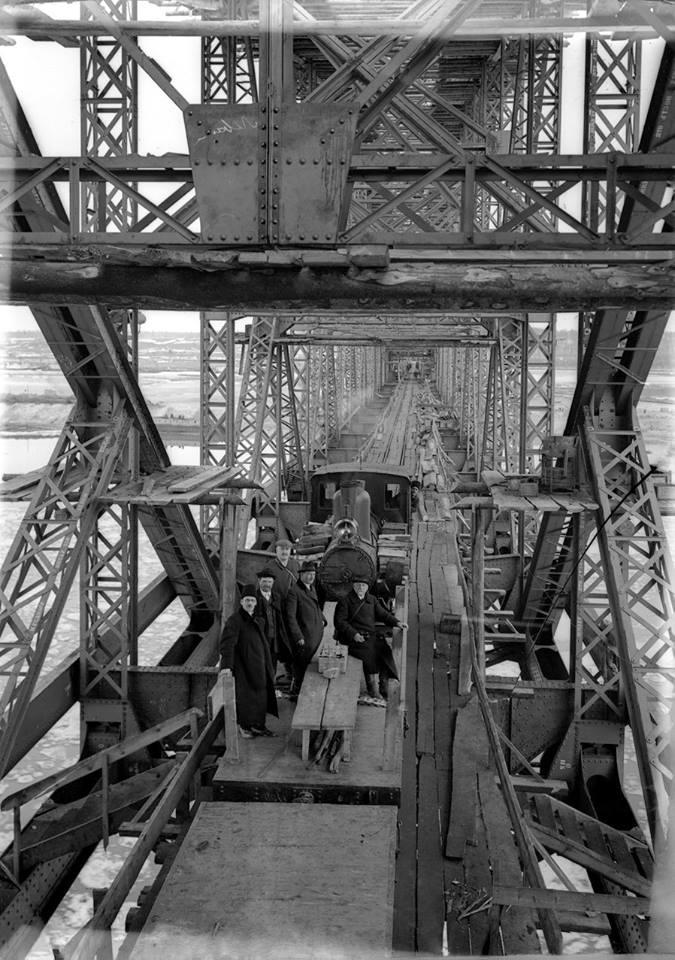Руководство строительства моста во главе с Игнатием Александровичем Цишевским