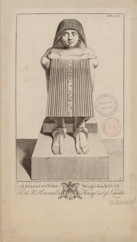 Статуя Осириса, привезенная из Египта графом Генри Линкольном