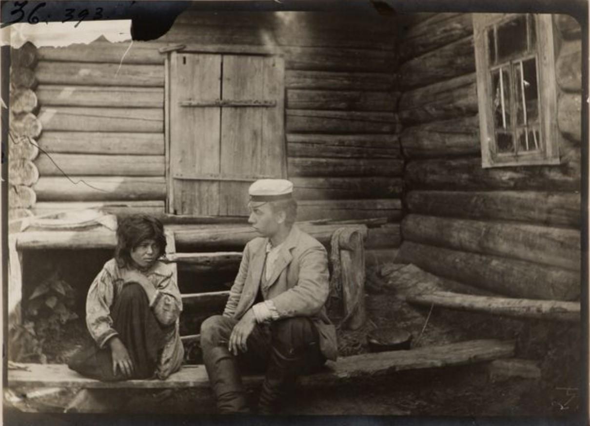 Герман Стенберг и местный житель, Васюган