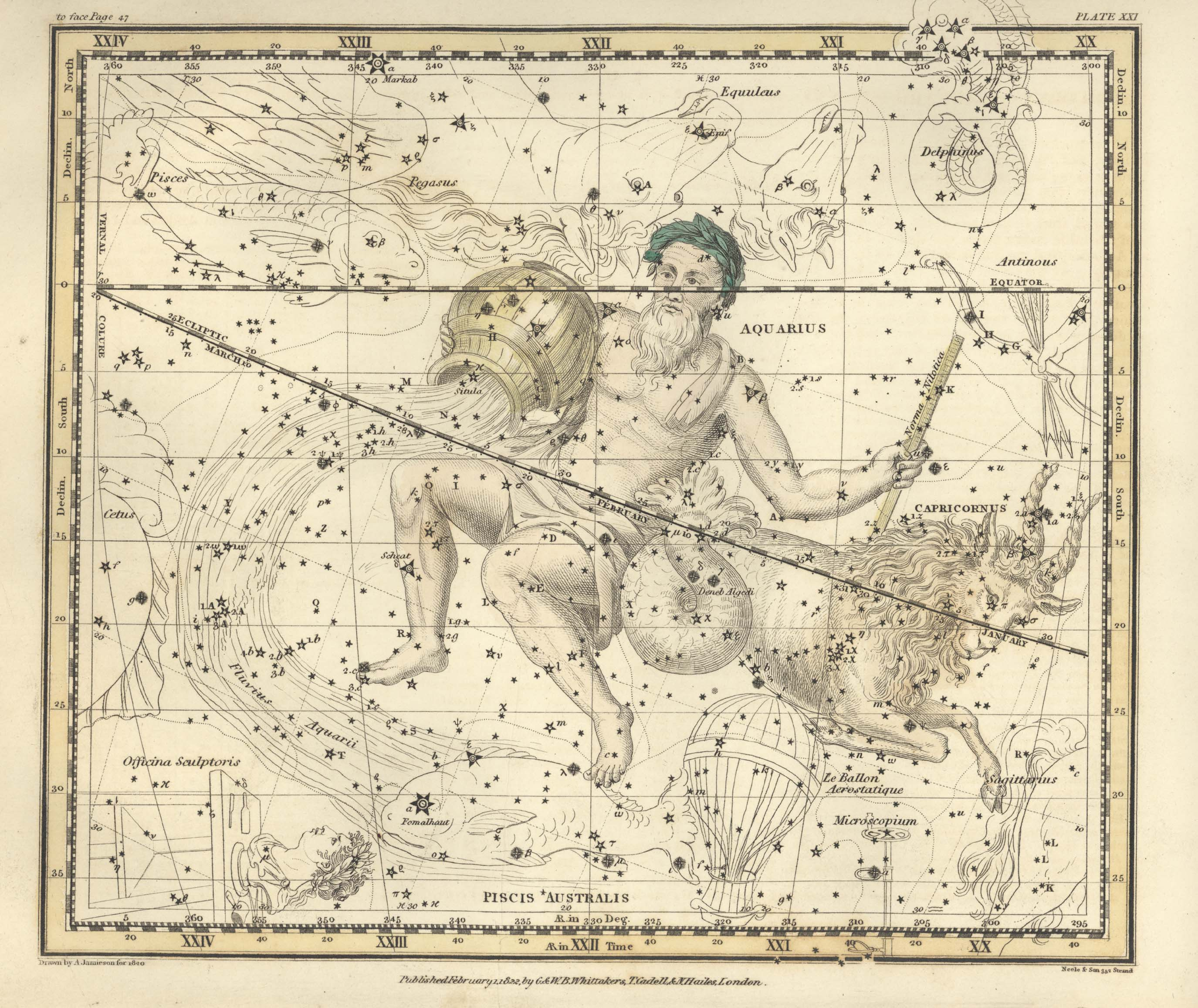 Страница №24: Водолей, Нилометр, Воздушный Шар, Южная Рыба, Микроскоп и Козерог