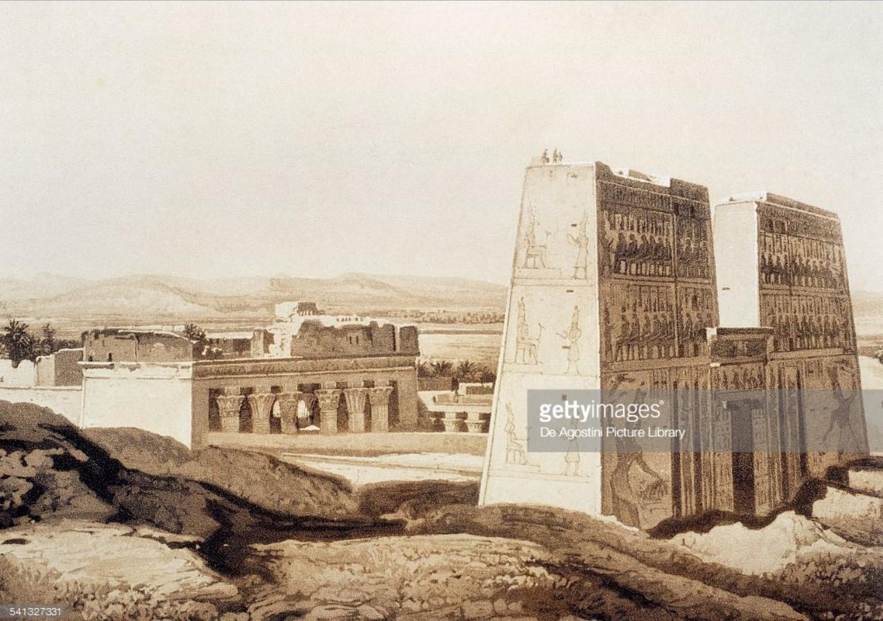 1841. Эдфу. Храм Хора