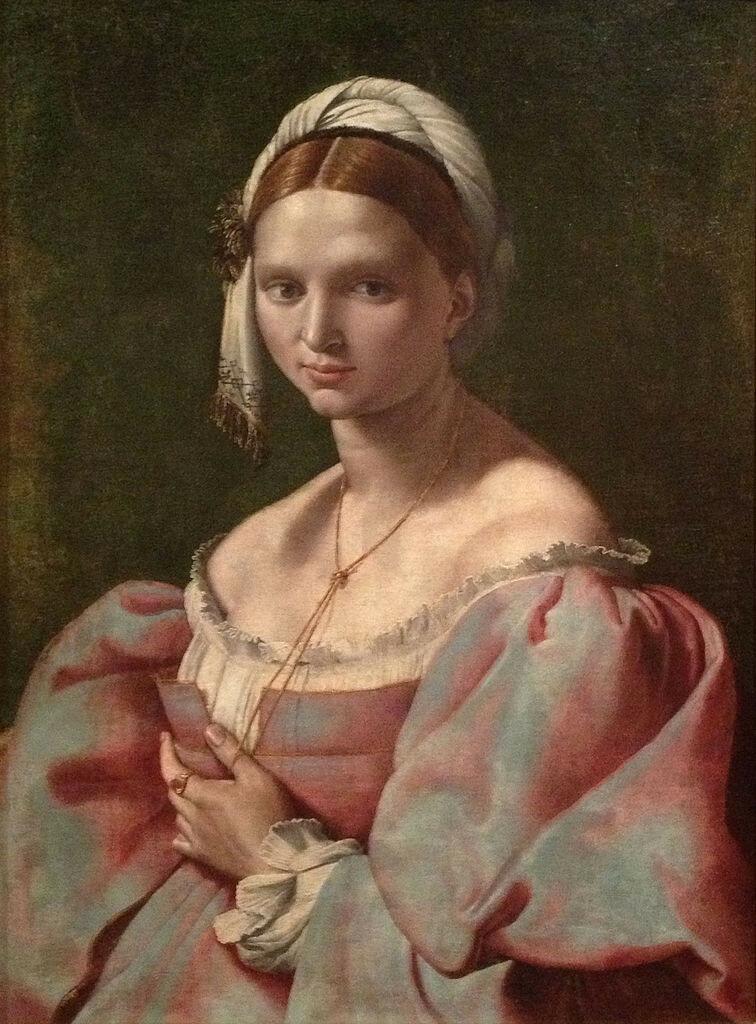 Ritratto_femminile_di_Giuliano_Bugiardini_con_giovane_donna_dal_caro_laccio,_dolce_nodo1516-1525JPG.JPG