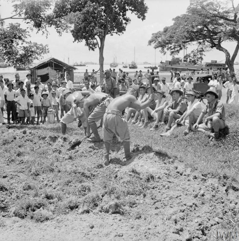 JAPANESE PRISONERS OF WAR AT WORK IN SINGAPORE
