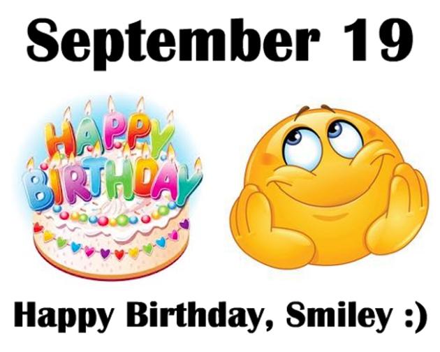 Открытки с днем рождения смайлика. Смайлик с тортом.JPG открытки фото рисунки картинки поздравления