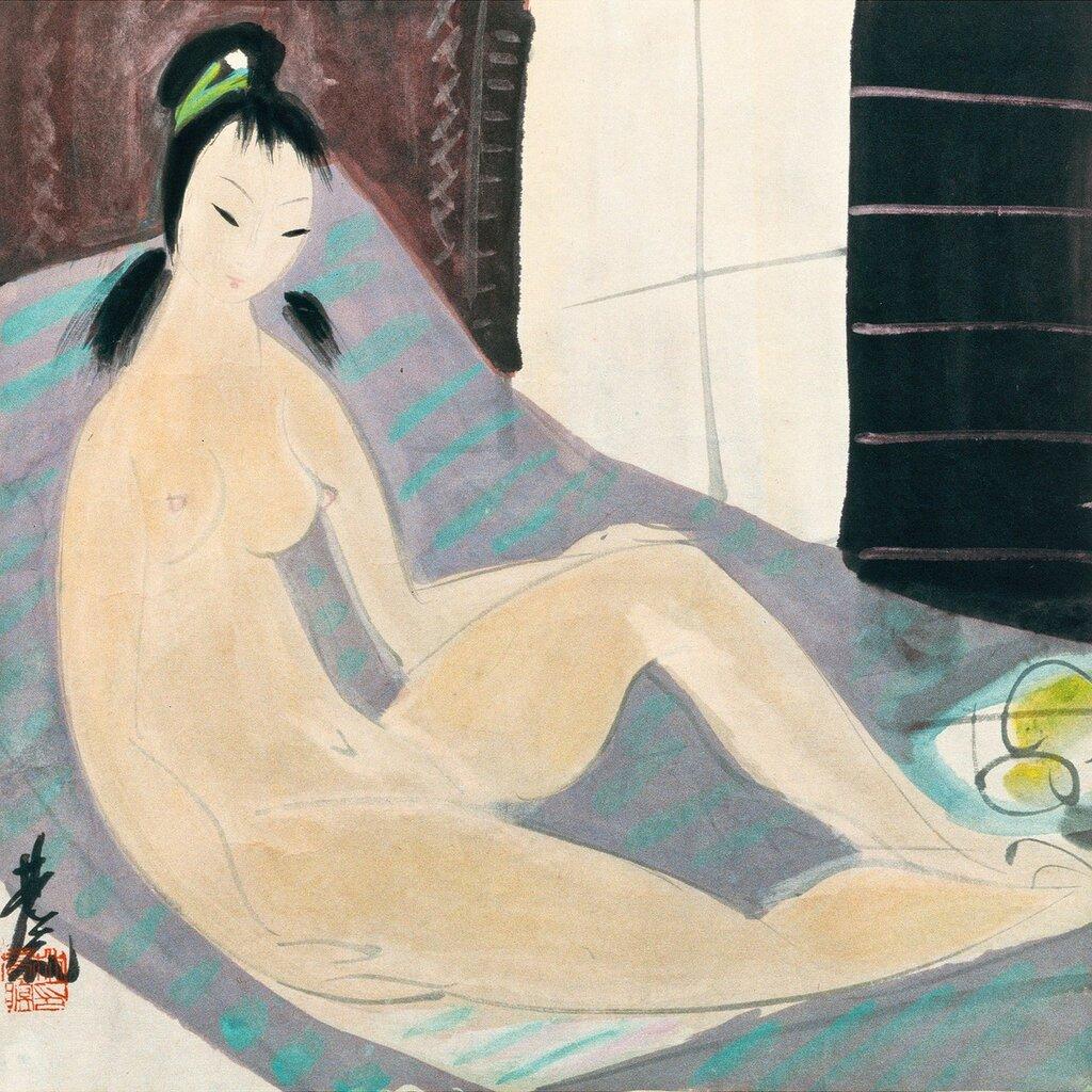 Lin Fengmian, 1900-1991. Обнаженная. 34.4 х 34 см. Частная коллекция.jpg