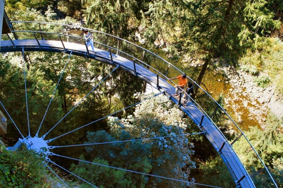 48. Мост на утесах в Ванкувере, Канада
