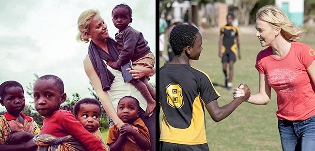 © Charlize Theron Africa Outreach Project .  Шарлиз возглавляет благотворительный фонд Africa
