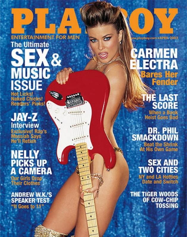 2003 год.   На обложке Playboy Кармен Электра впервые появилась в мае 1996 года. Именно этот жу