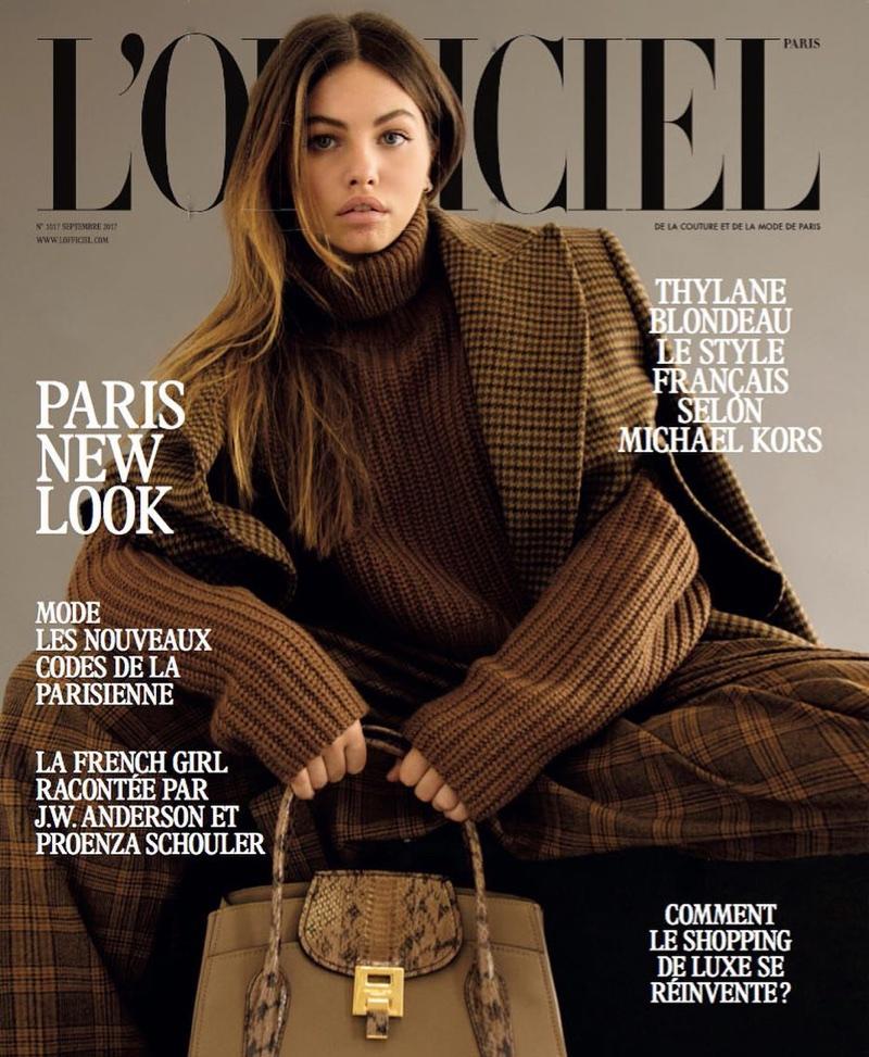 Тайлана Блондю на обложке L'Officiel Paris