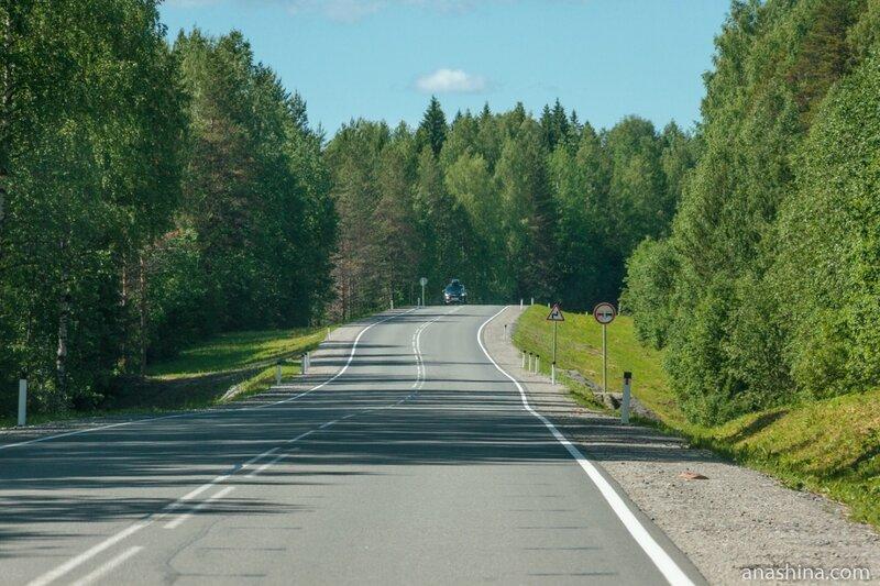 Трасса А-119 после Пудожа