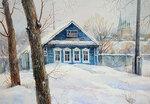 Зима, снег, Новый Год, каток, народные гуляния (предпочитаю рисованные)