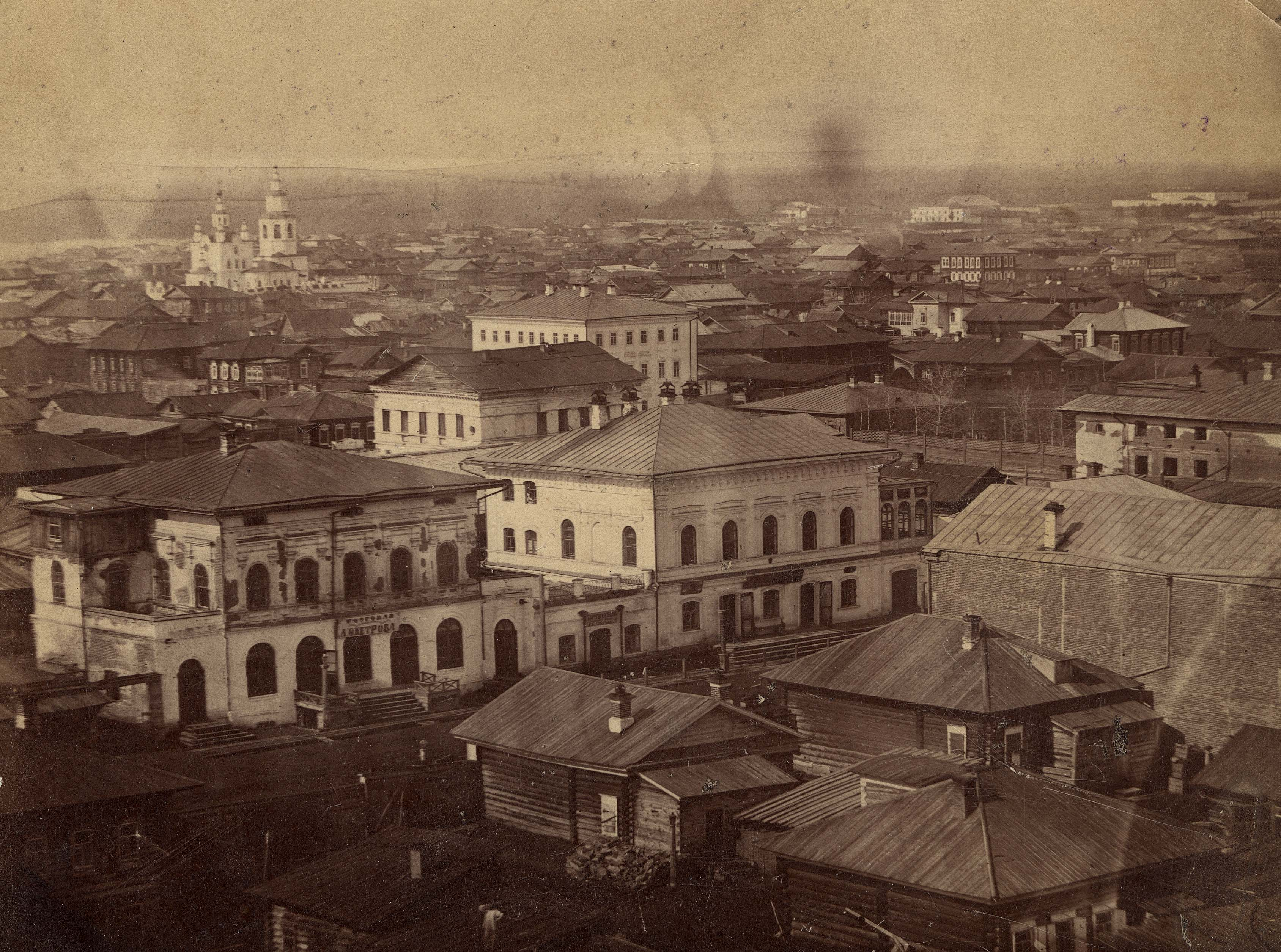 Панорама Центральной части города в направлении на юго-восток