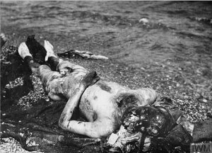 1918. Искалеченное тело майора чехословацкого легиона, замученного большевиками. Омск