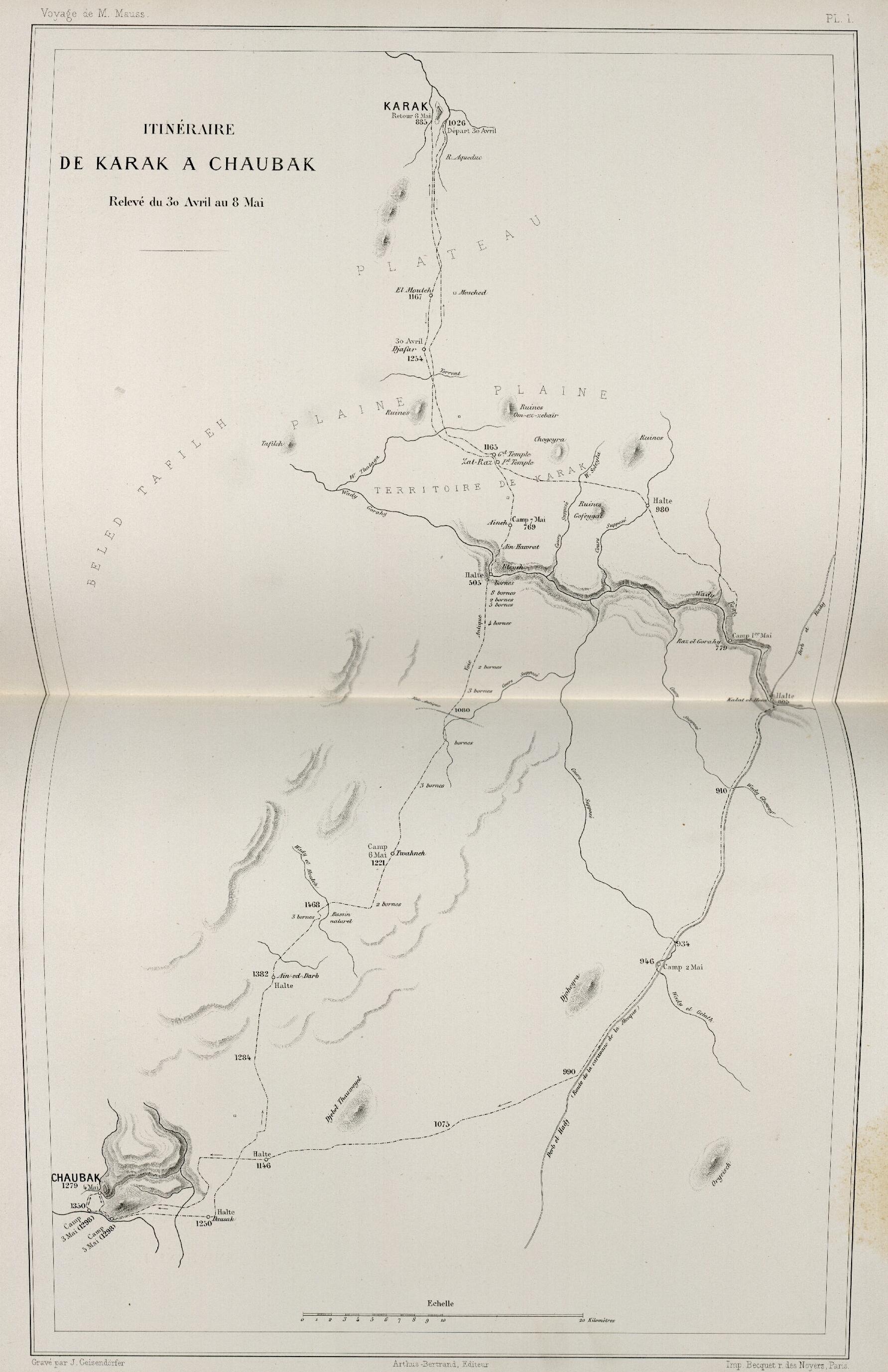 74. Путь от Карака до Чаубака