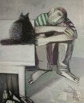 «Сидящие» 1998 Бумага, гуашь 100х80.jpg