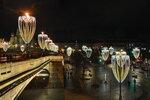 Вечер в праздничной Москве