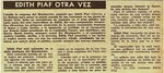 Édith Piaf à Cuba 1957 article en espagnol