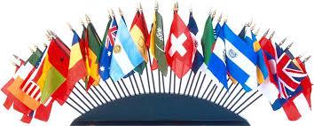 Открытка С Днем Переводчика! Флаги стран мира