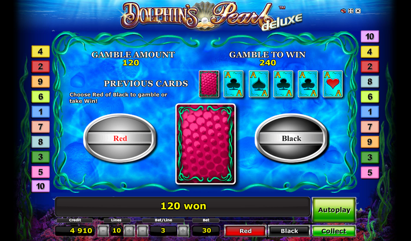 Dolphins pearl slot double up