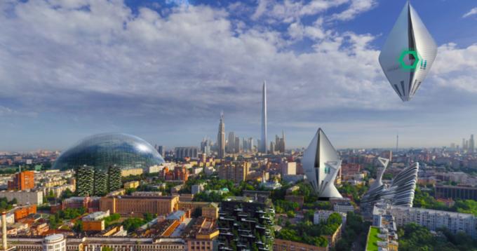 Москва в 2050 году: отсутствие пробок, космические туристы и полеты на такси