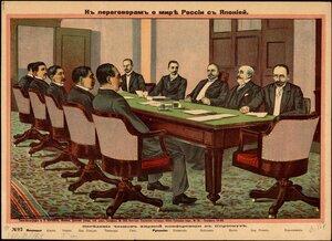 Заседание членов мирной конференции в Портсмуте